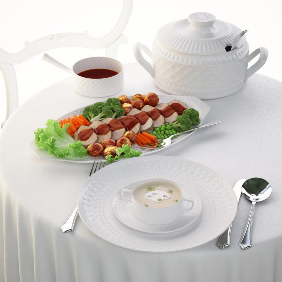 食物组合3D模型