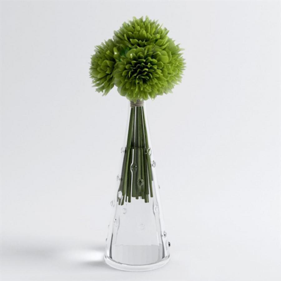 现代桌面玻璃瓶花卉模型