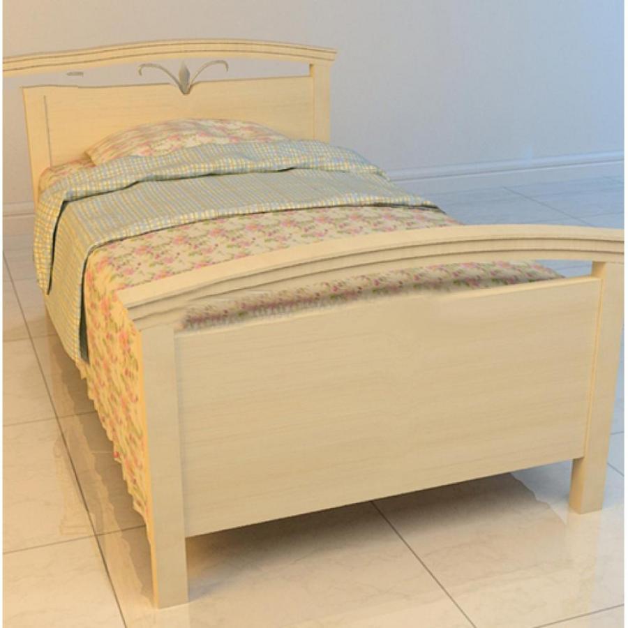 现代单人床3D模型