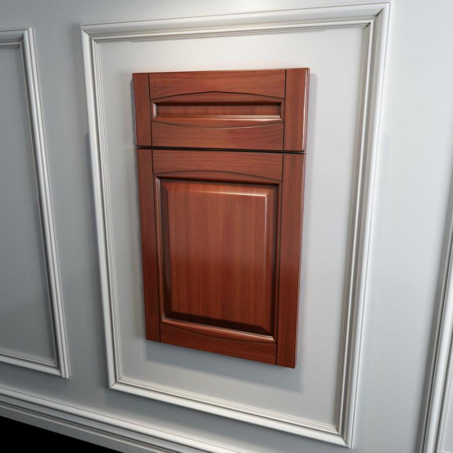 橱柜衣柜实木起拱门板原创模型