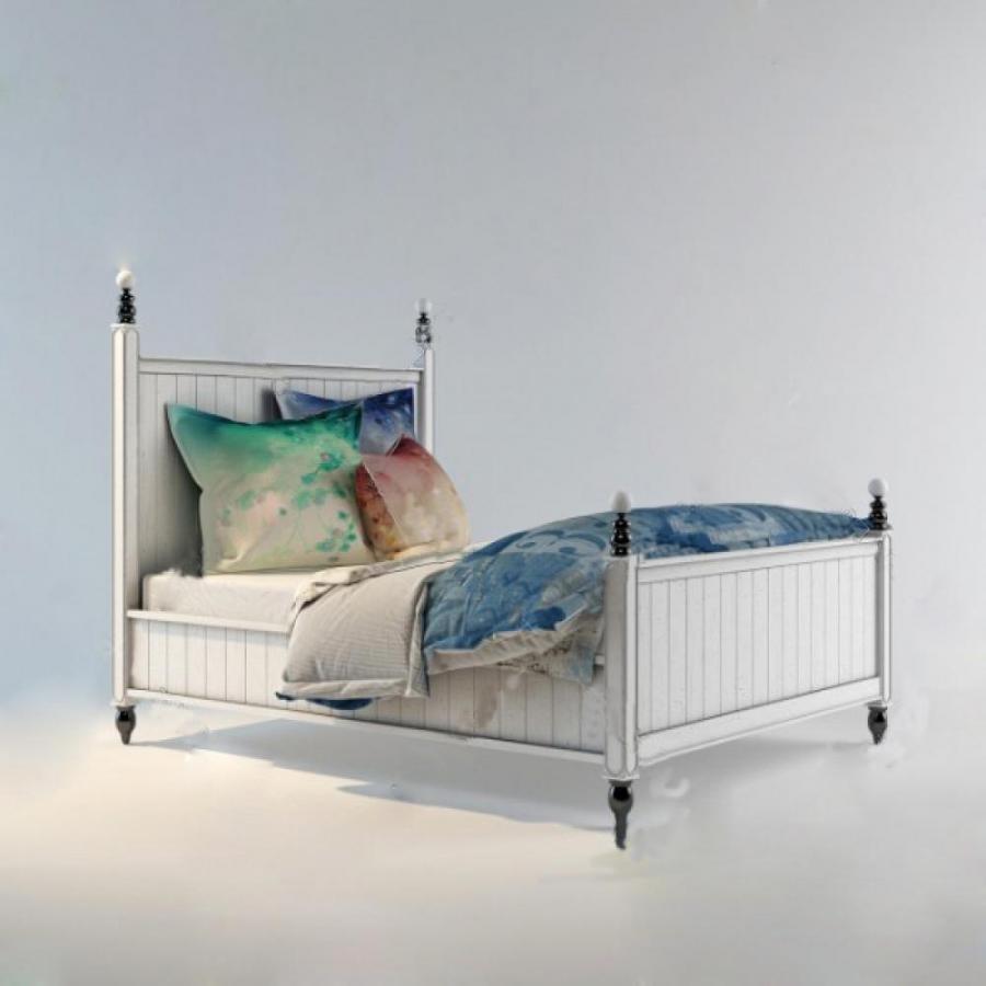 单人床3D模型