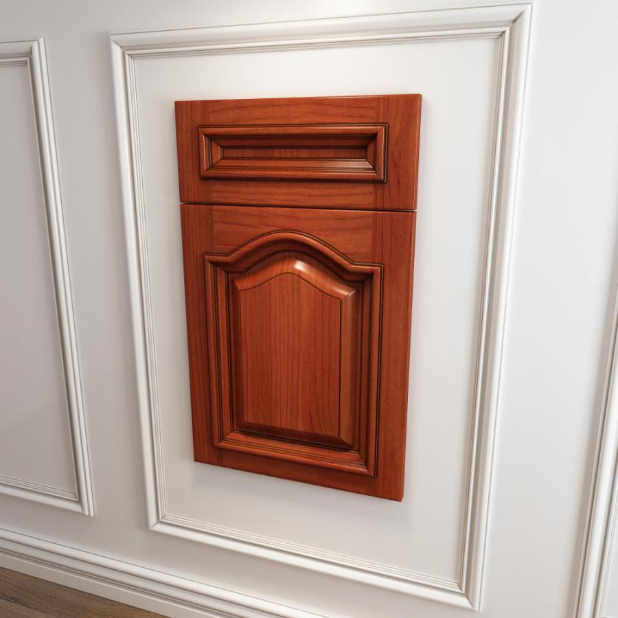 橱柜衣柜实木起拱门板门型模型