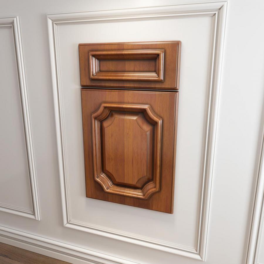 橱柜衣柜起拱型门板门型原创模型