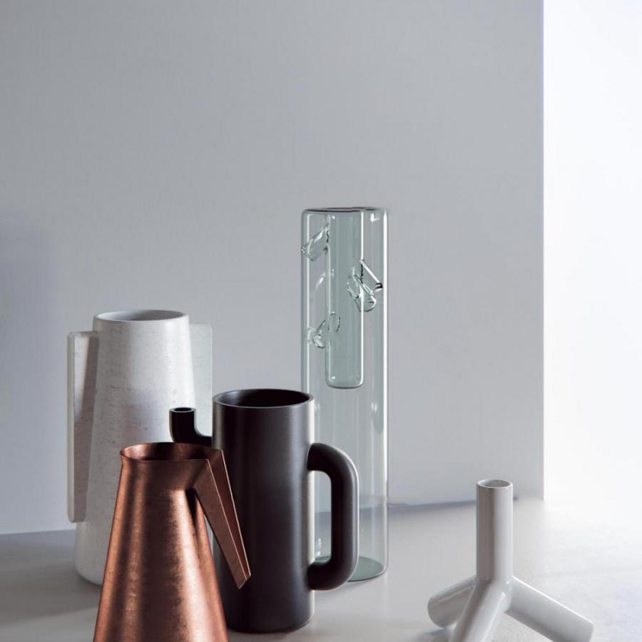 现代茶壶玻璃摆件组合模型
