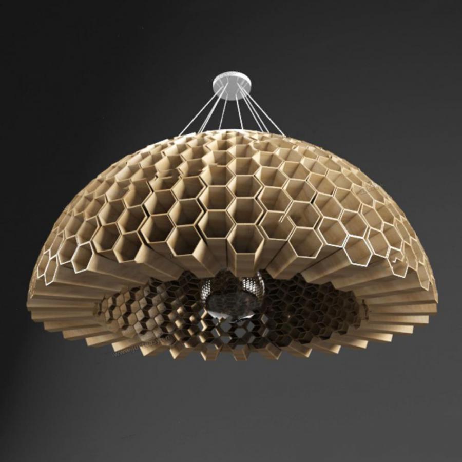 现代蜂巢吊灯模型