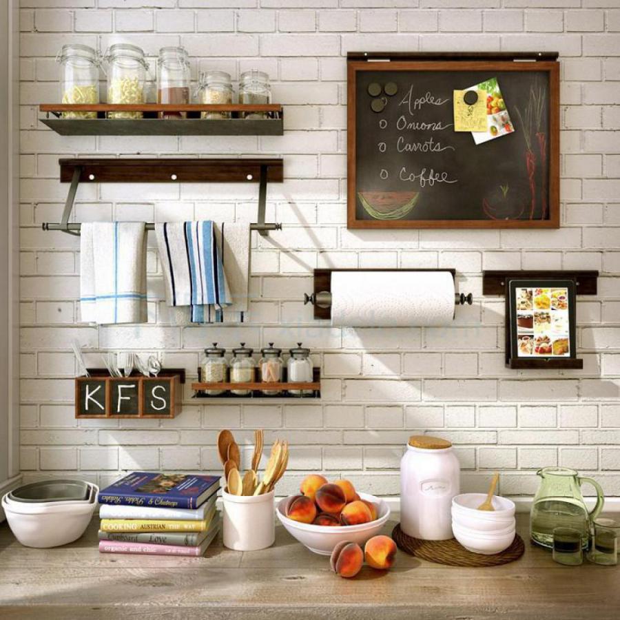 现代厨房餐具模型