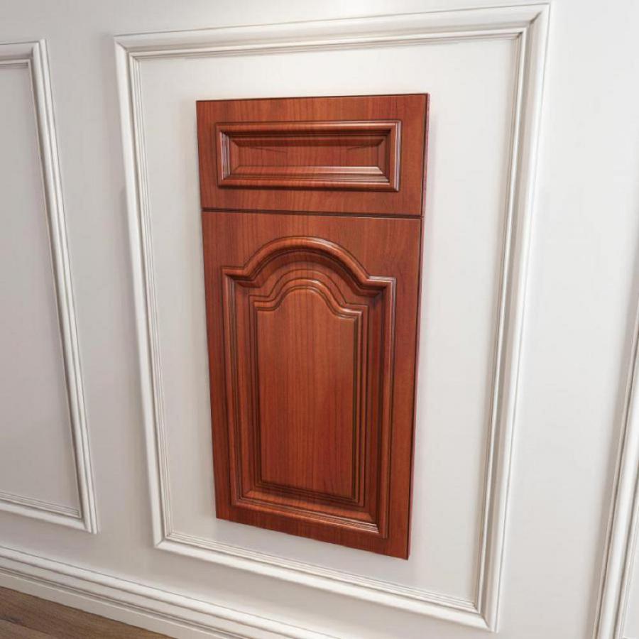 橱柜衣柜原创实木起拱门板门型模型