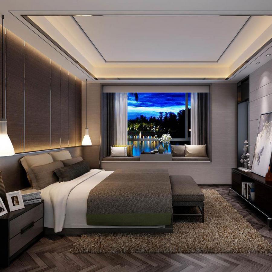 现代风格整体家装卧室空间主卧室模型