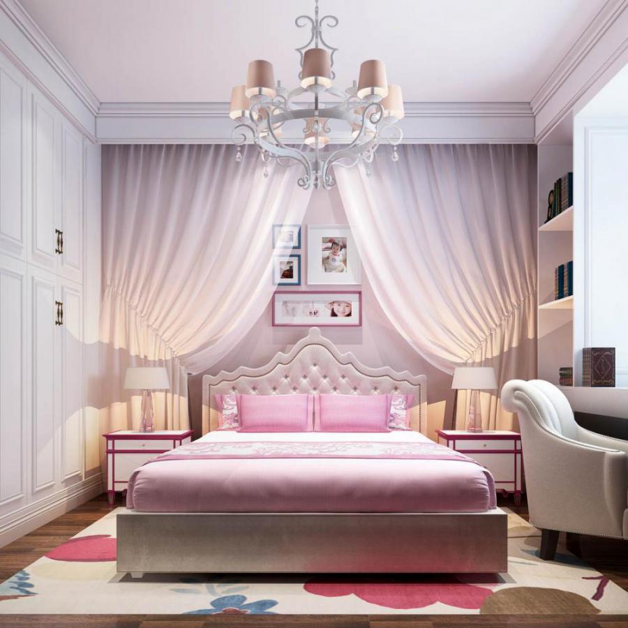 欧式风格整体家装卧室空间儿童房模型