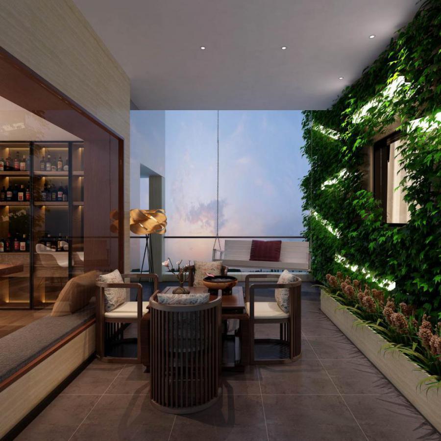 新中式风格休闲茶室模型
