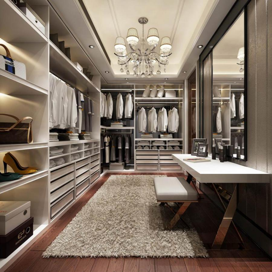 欧式风格整体家装衣帽间模型