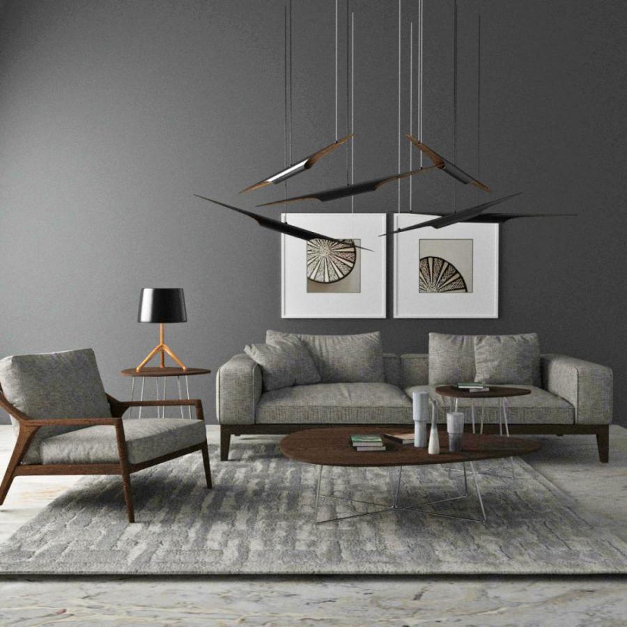 现代沙发吊灯模型