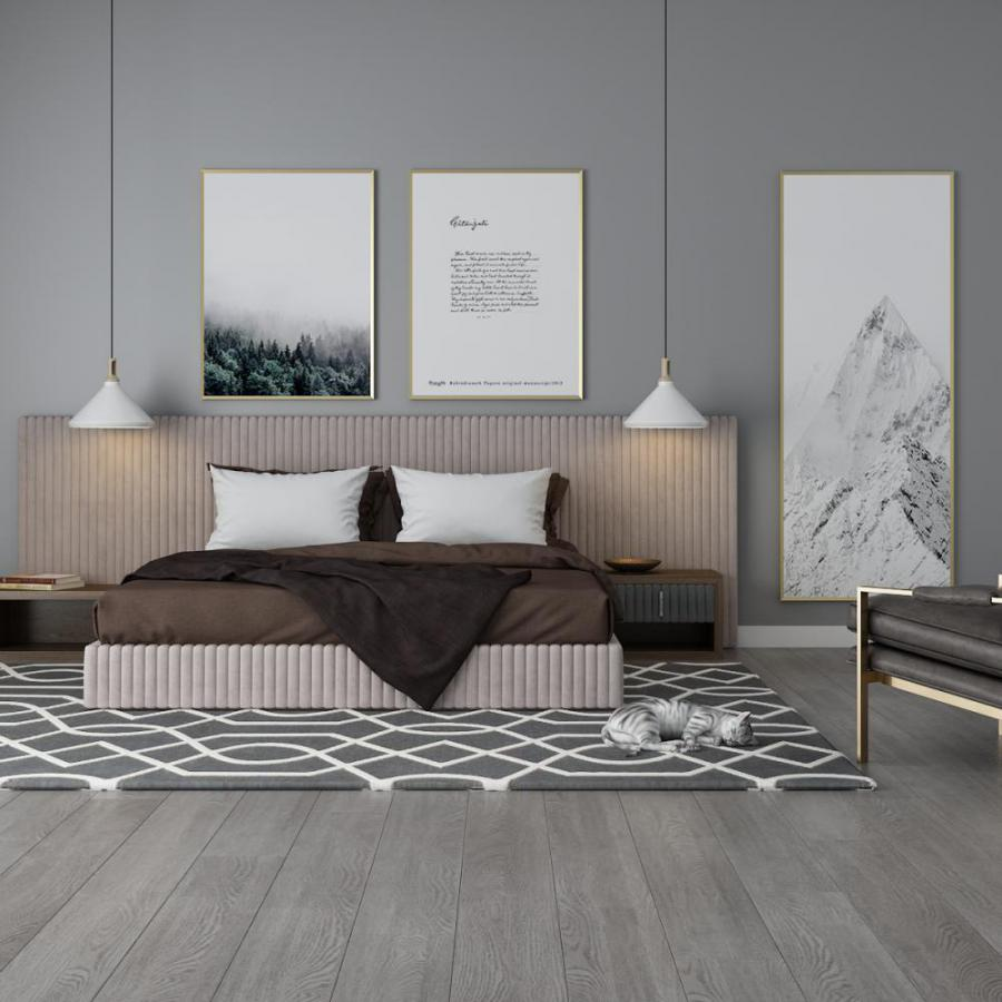 北欧简约单人椅双人床组合模型