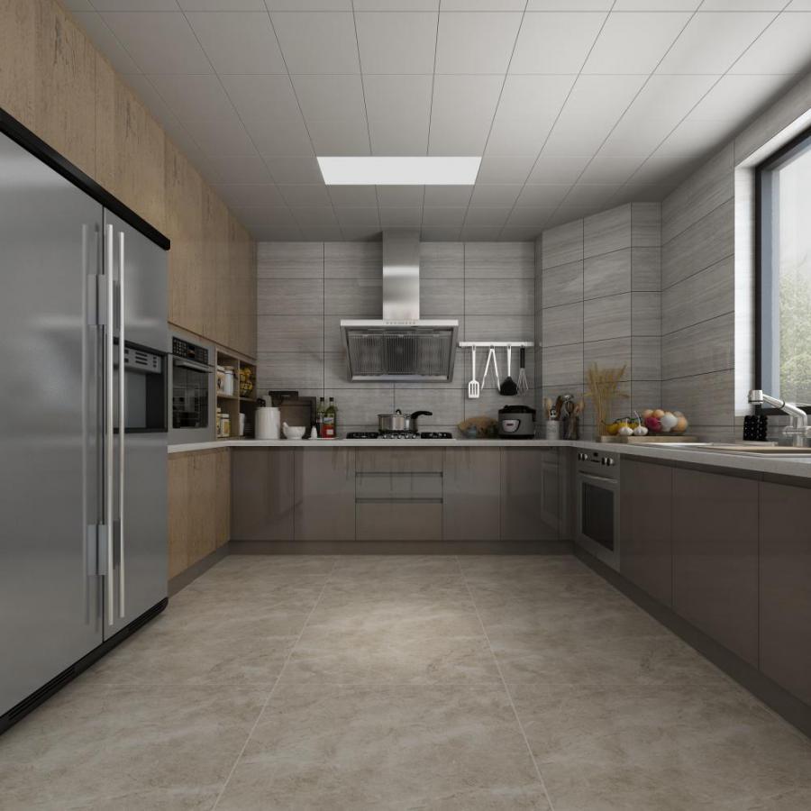 现代厨房橱柜餐具组合模型