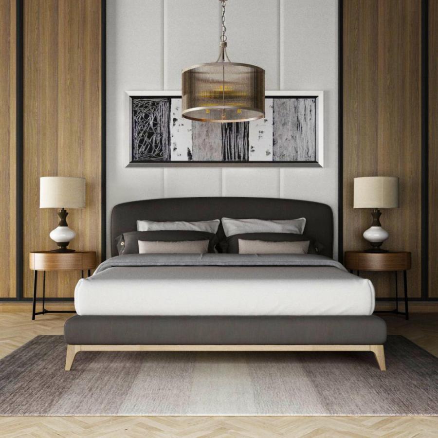 现代双人床床头背景墙组合模型