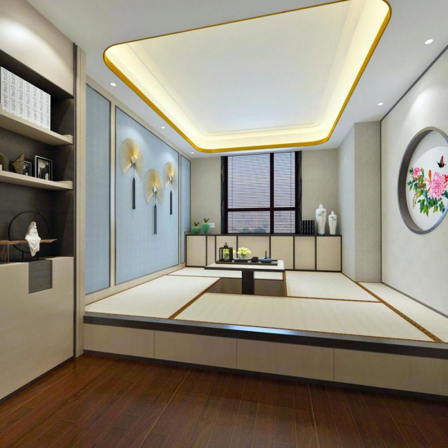 日式榻榻米茶室模型