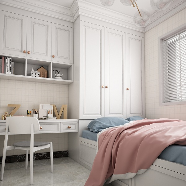 现代简约卧室榻榻米3D模型
