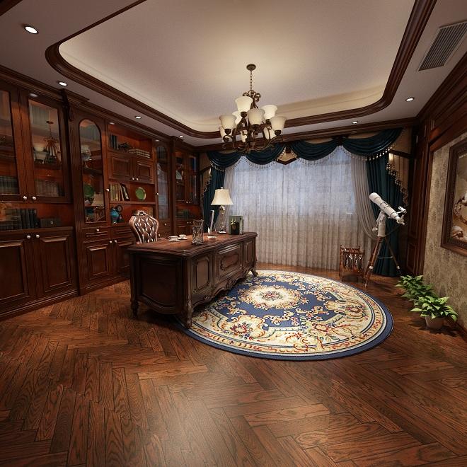 美式书房书桌吊灯装饰画模型