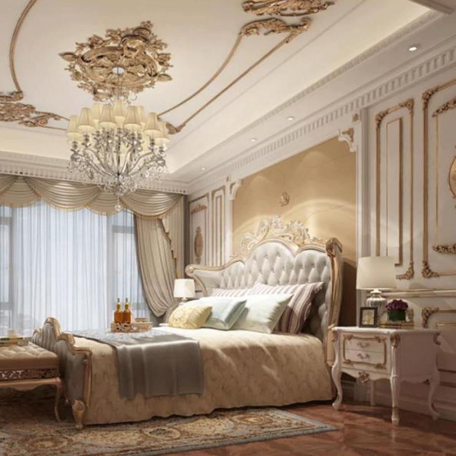 欧式奢华卧室模型