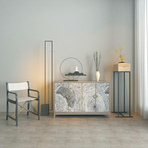 新中式端景台椅子模型