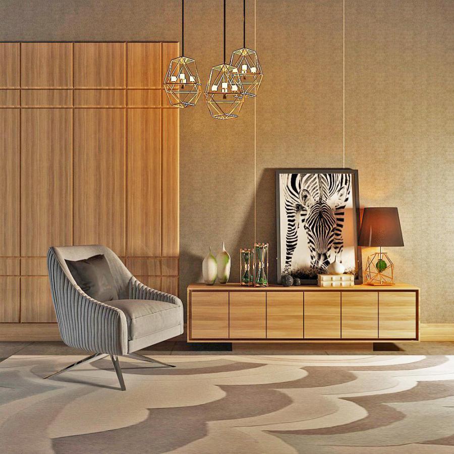 现代端景台单人沙发模型