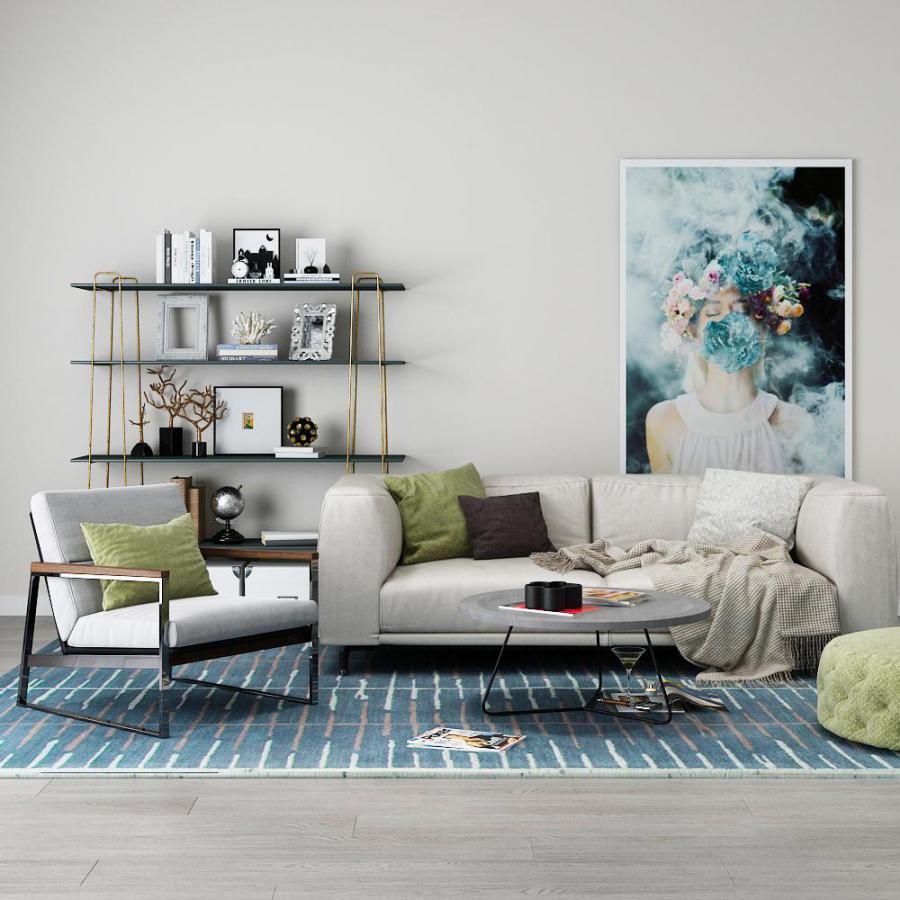 北欧沙发茶几模型