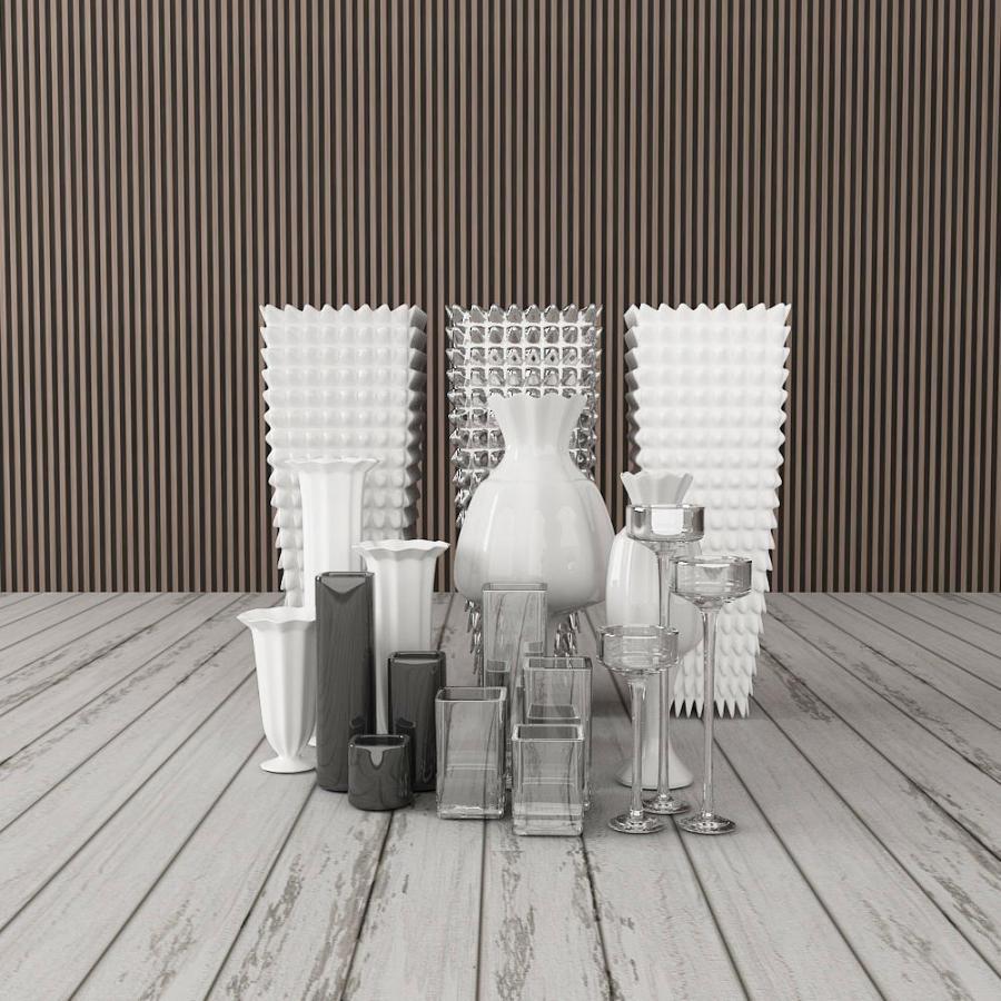 橱柜装饰玻璃杯模型
