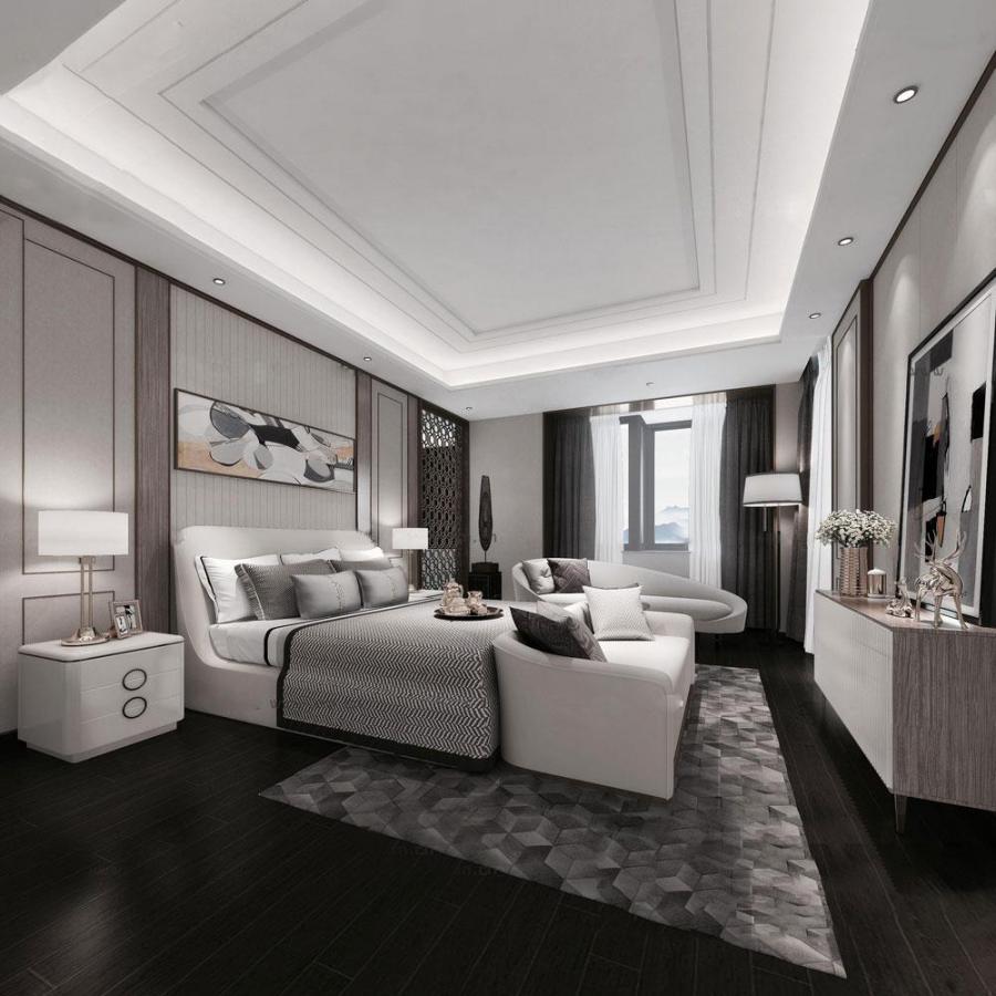 现代风格卧室模型