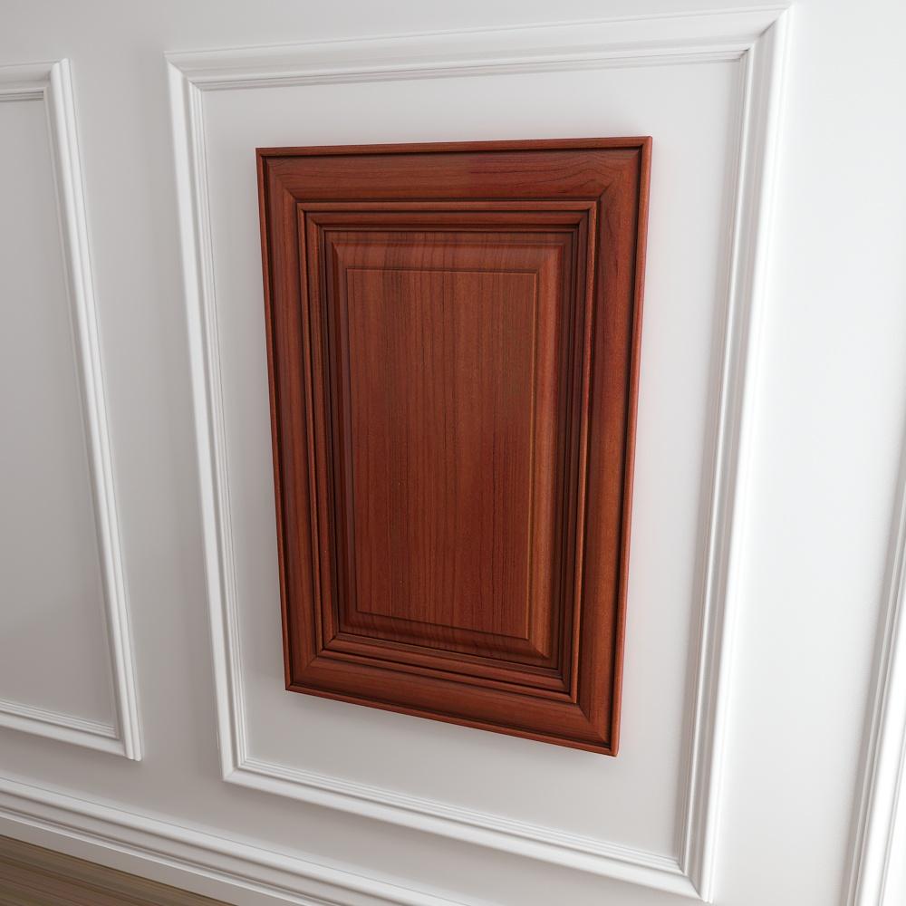 欧式实木回型门板门型模型