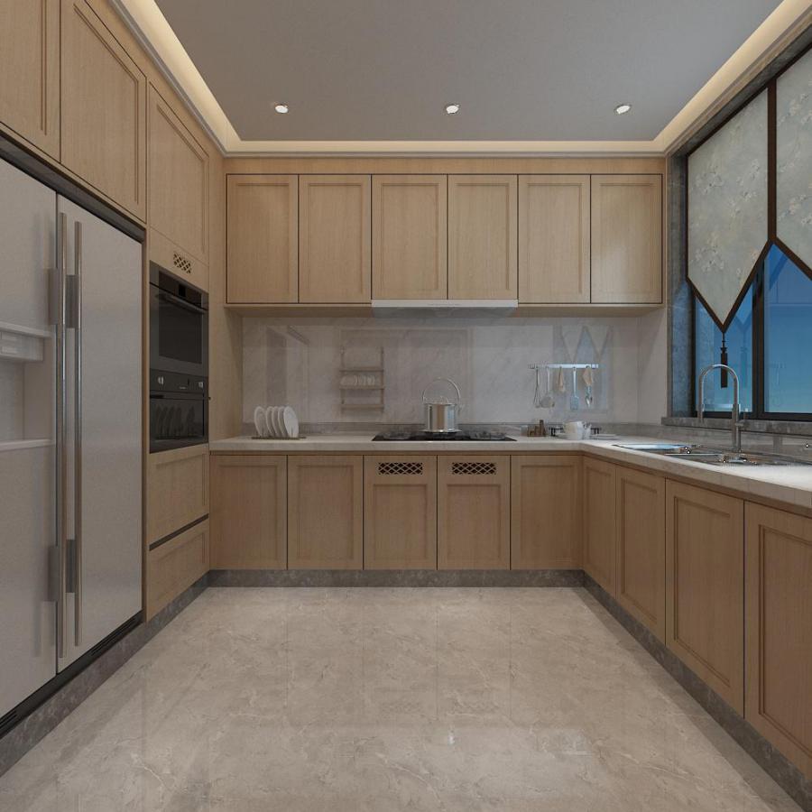 新中式厨房橱柜模型