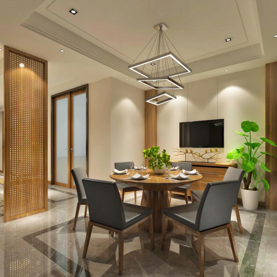 现代整体家装餐厅空间模型