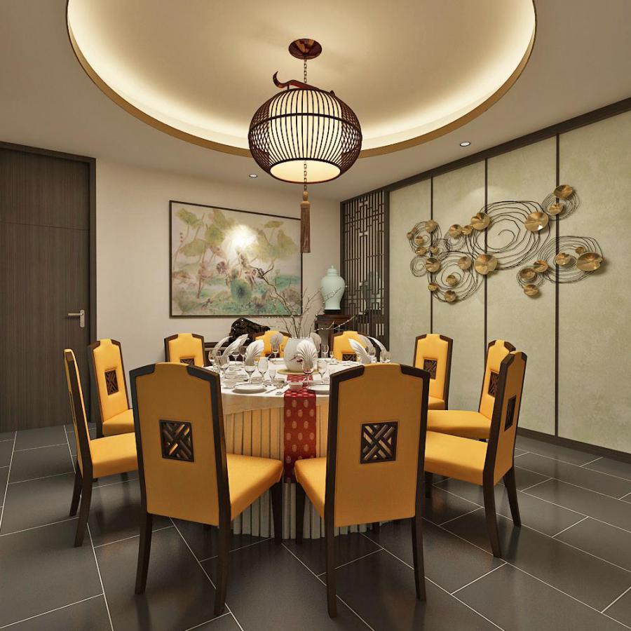 东南亚风格餐厅模型